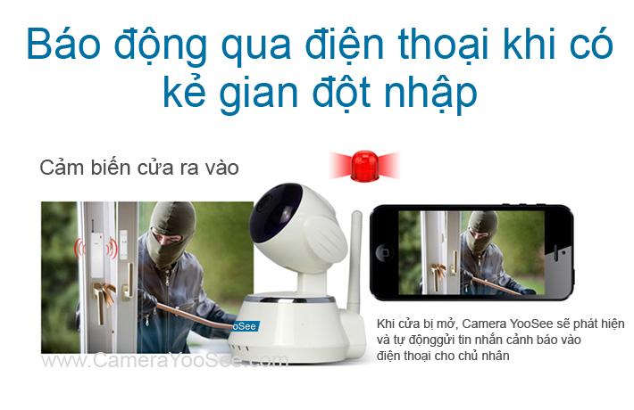 camera không dây yoosee, camera khong day yoosee, camera báo động qua điện thoại khi có trộm, camera bao dong qua diên thoai khi co trom
