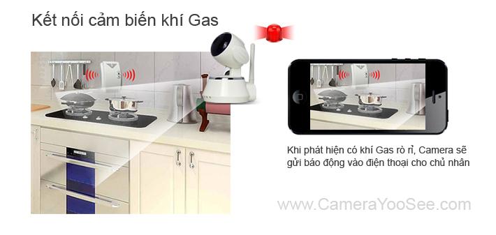camera không dây yoosee, camera khong day yoosee, camera báo động khí gas, camera khong day bao dong khi gas