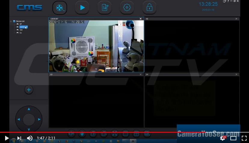 Khắc phục tình trạng màn hình đen trên CMS Client Camera IP wifi YooSee