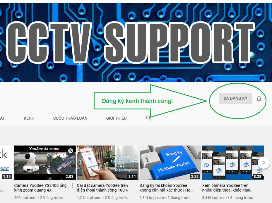 Hướng dẫn đăng ký theo dõi kênh camera yoosee