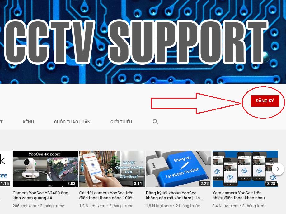 Kênh Youtube hướng dẫn sử dụng camera YooSee