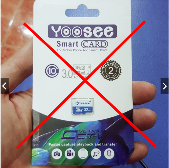 Thẻ nhớ không thể ghi hình trên camera yoosee