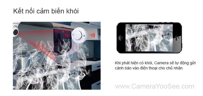 camera không dây yoosee, camera khong day yoosee, camera không dây báo động khói, camera khong day bao dong khoi