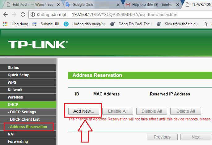 Cấp IP tĩnh cho thiết bị camera bằng địa chỉ MAC trong modem