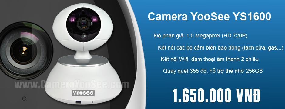 Phân phối camera IP wifi YooSee chính hãng tại Việt Nam, YooSee YS1600