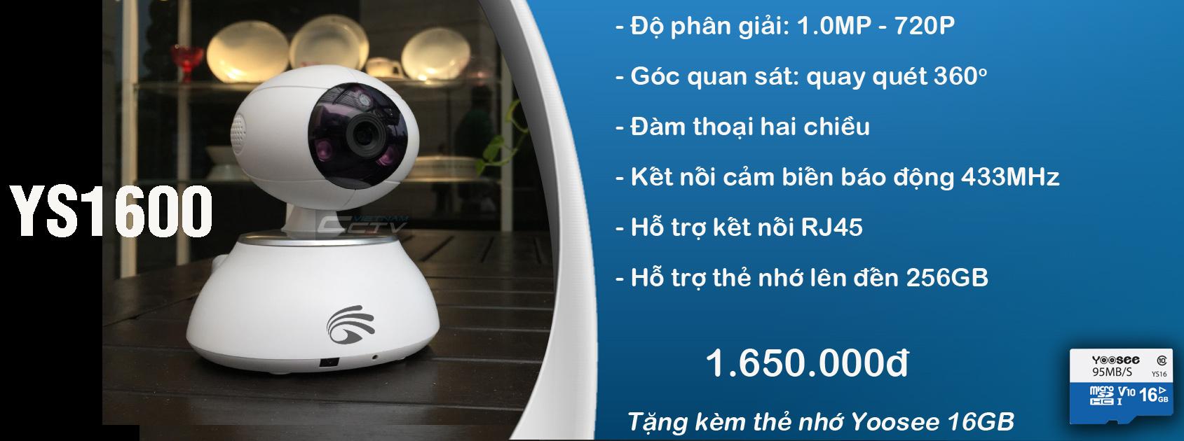 camera yoosee ys1600
